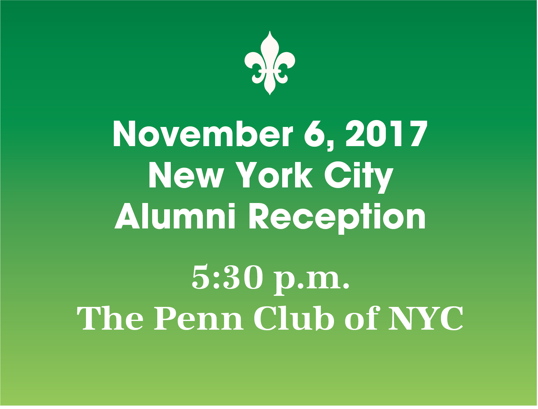 New York City Alumni Reception