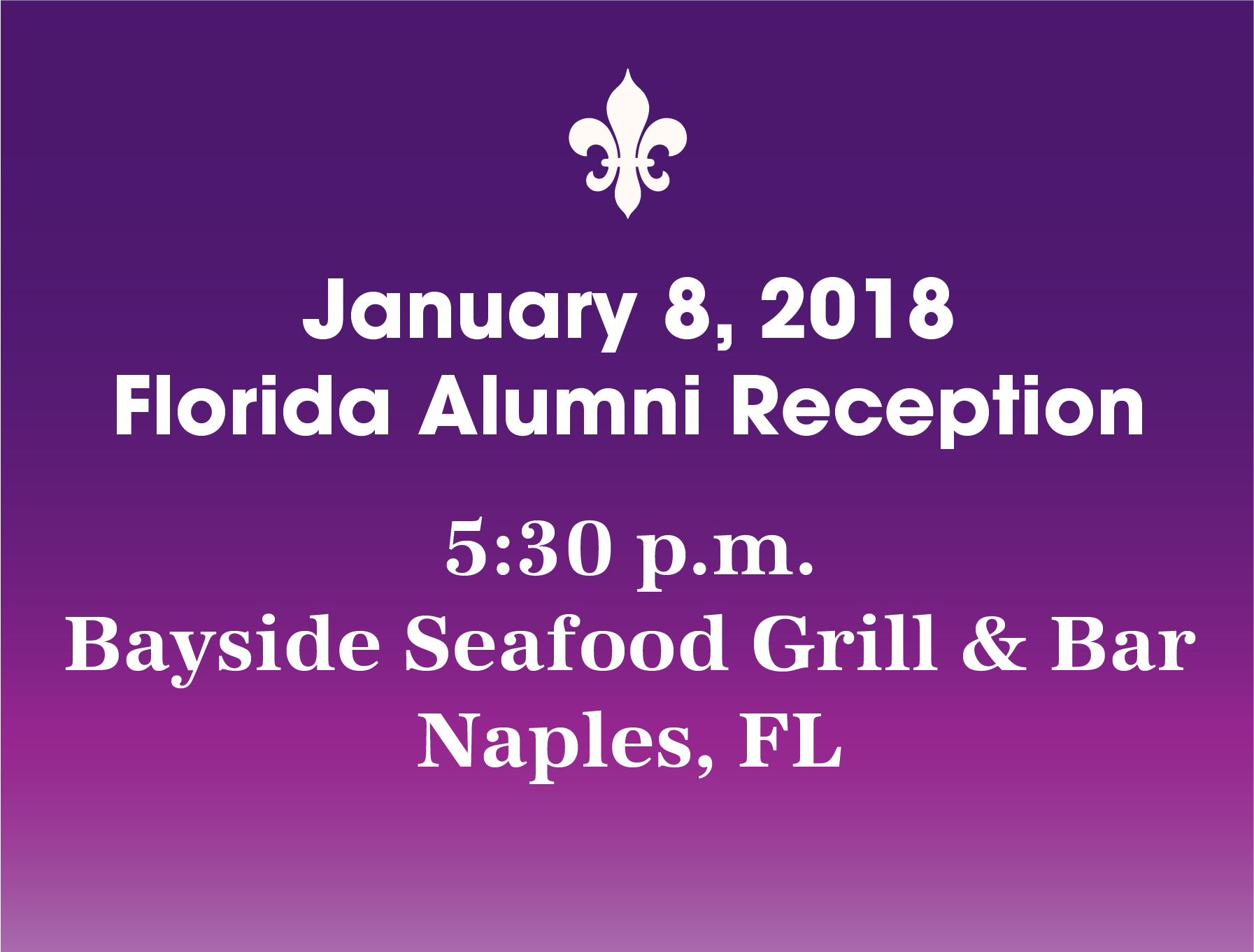 Florida Alumni Reception
