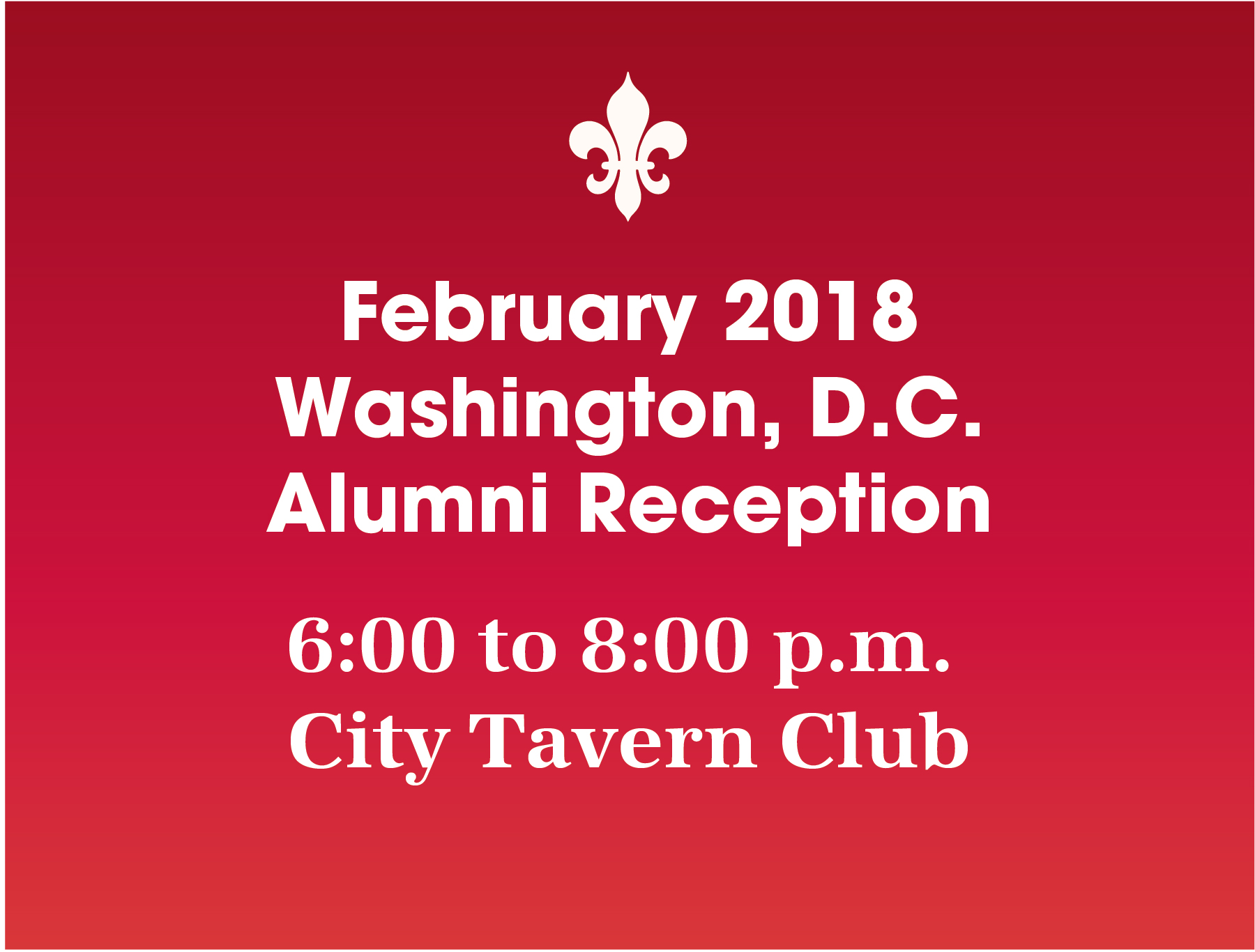 Washington D.C. Alumni Reception