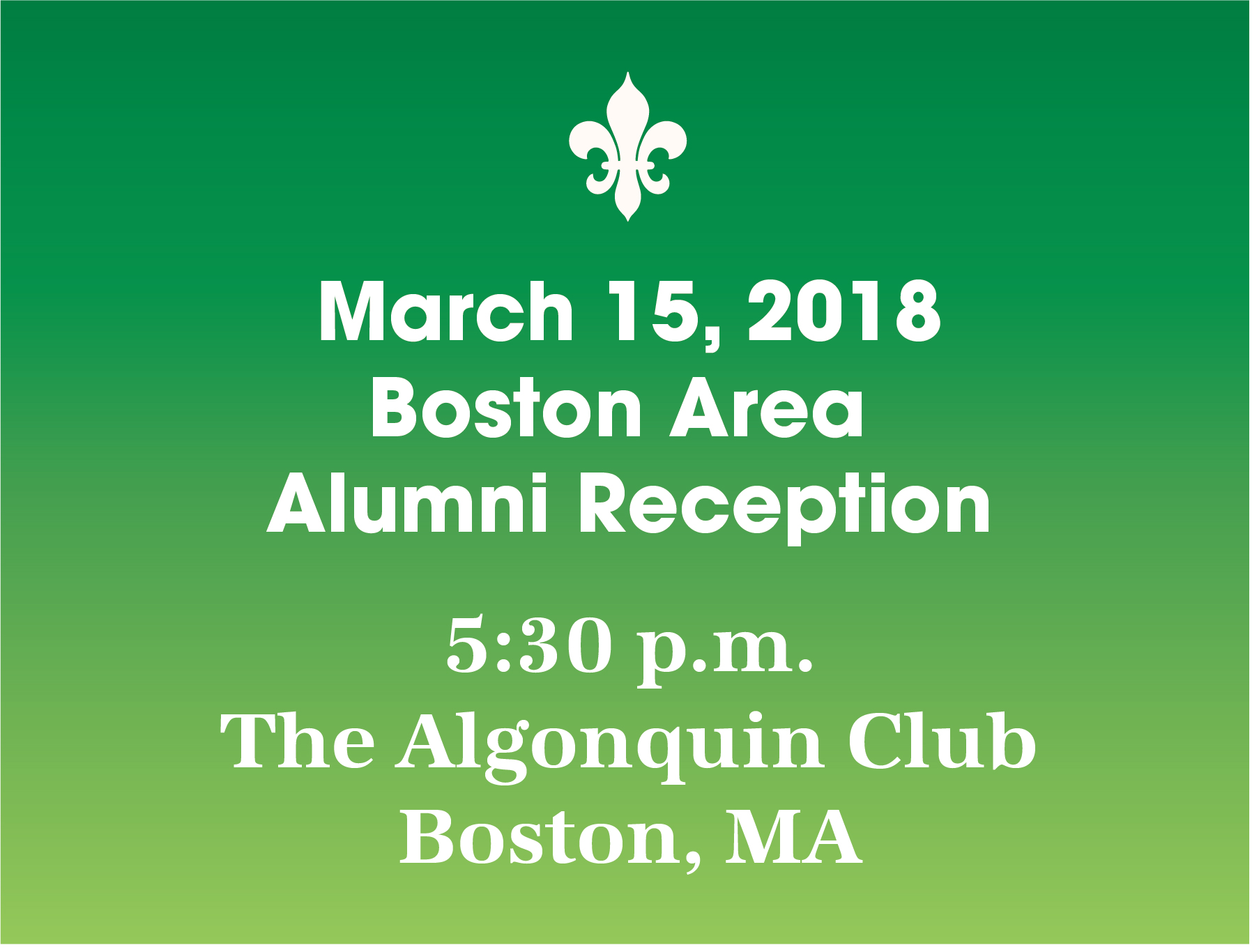 Boston Area Alumni Reception