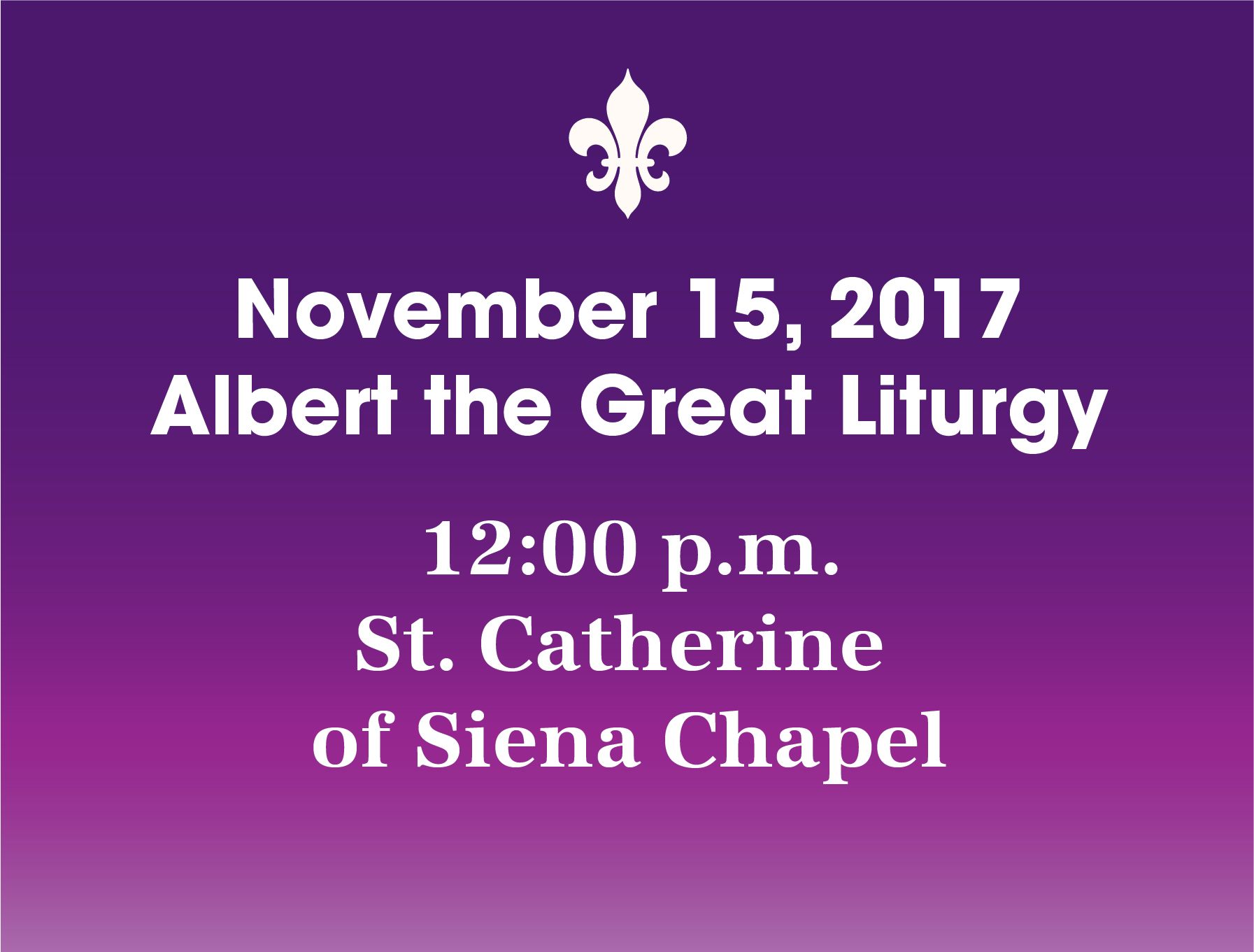 Albert the Great Liturgy