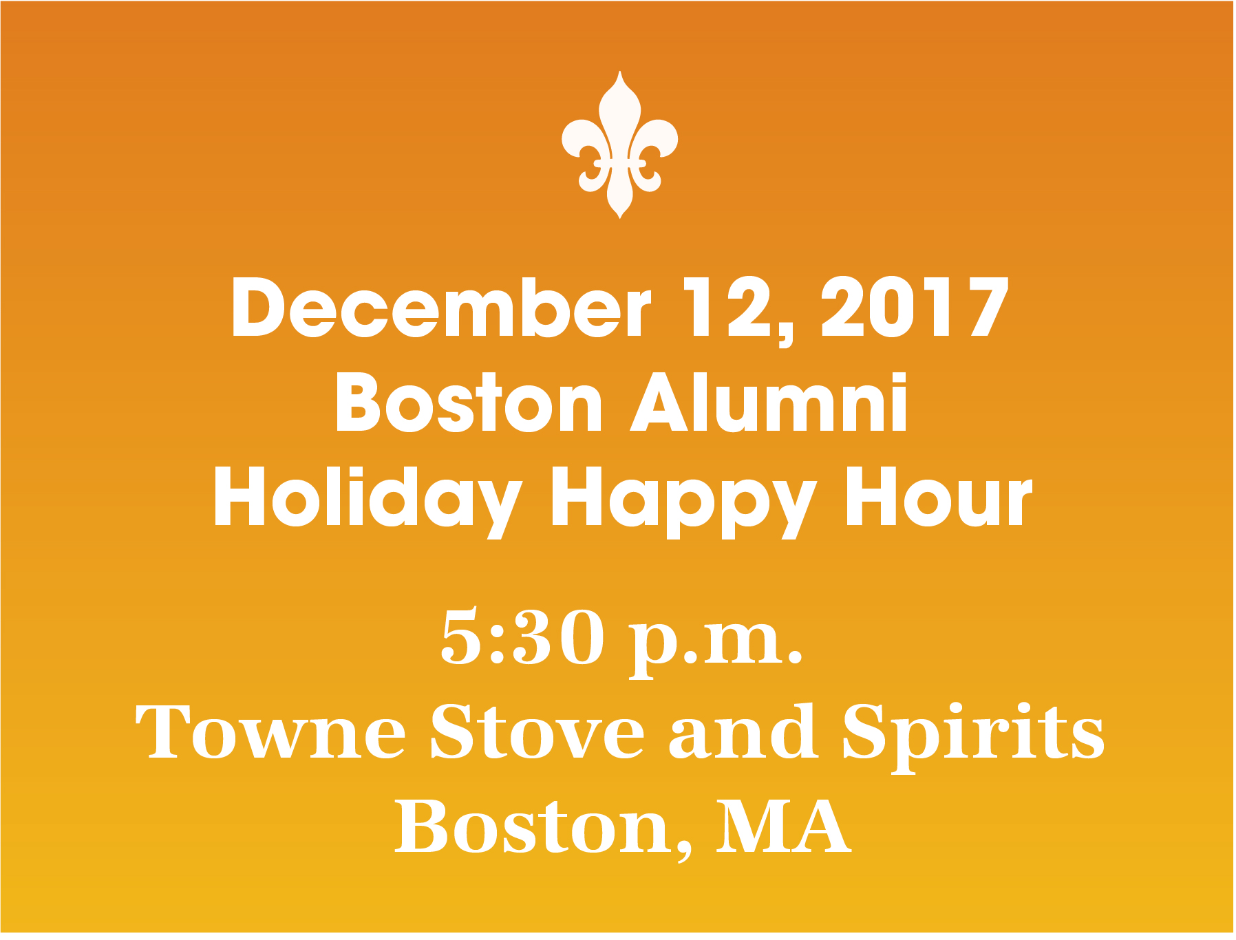 Boston Alumni Holiday Happy Hour